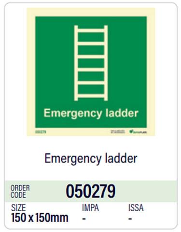 Emergency ladder Dura-Plate 150 x 150 mm photolum.