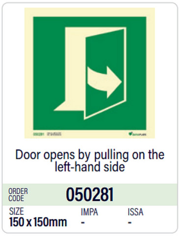 Door opens by pulling on the left-hand side, in stock
