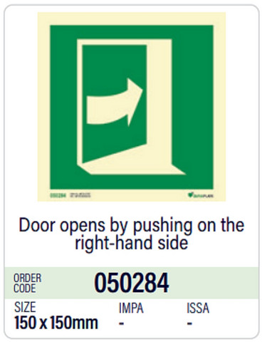Door opens by pushing on the right-hand side, in stock