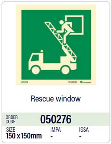 Rescue window, Dura-Plate, in stock
