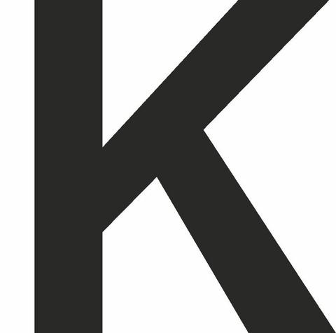 K-kirjain musta 80 varastossa