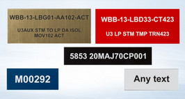 ENGRAVED IDENTIFICATION LABELS AND TAGS