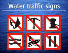 WATER TRAFFIC SIGNS