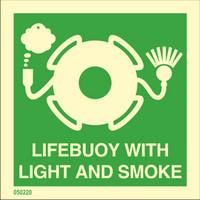 Pelastusrengas valo- ja savumerkillä