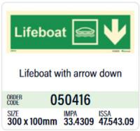 Pelastusvene, alas oikea