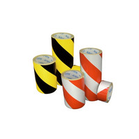 AS-20 Red / white diagonal reflective tape