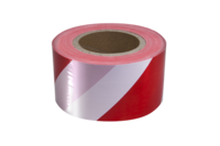 Red / white diagonal barrier tape