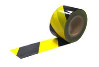 Yellow / black diagonal barrier tape