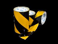 AS-20 Yellow / black diagonal reflective tape