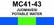 MC41-43 Juomavesi | Potable water