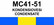 MC41-51 Kondensiovesi | Condensate