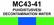 MC43-41 Puhdistusvesi | Decontamination water