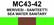 MC43-42 Merivesi - saniteetti | Sea water sanitary