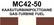 MC42‑50 Kaasuturbiinipolttoaine | Gas-turbine fuel