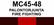 MC45‑48 Palontorjunta | Fire fighting
