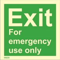 Exit vain hätätapauksia varten varastossa
