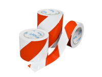 AS-21 Red / white diagonal warning tape from stock