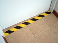 AS-20 Yellow / Black diagonal warning tape from stock