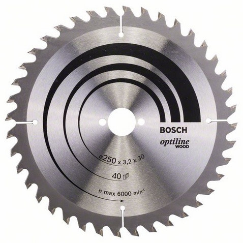 Bosch Pyörösahanterä 250x2,2/3,2x30mm Z40 Optiline Wood 2608640728