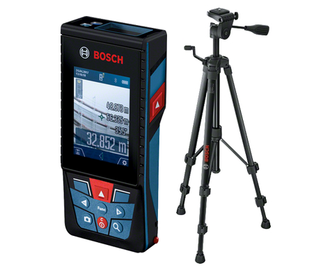 Bosch GLM 120C Laseretäisyysmittalaite + BT150 jalusta
