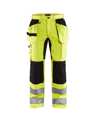 Blåkläder 1552-1811 HIGHVIS Riipputaskuhousut Stretch