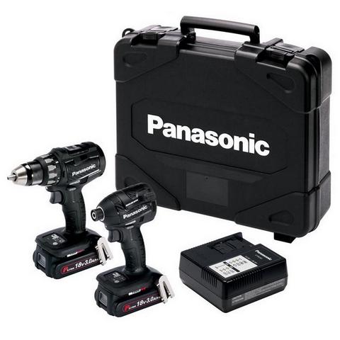 Panasonic Combokit EYC215PN2G Akkukonesarja 18V 2x3,0Ah