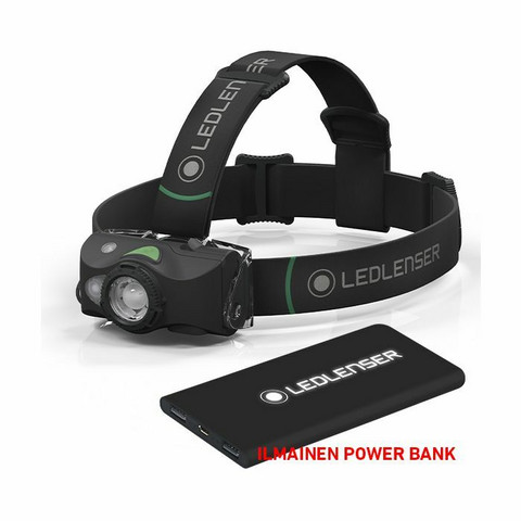 Ledlenser MH8 Ladattava Otsavalaisin, 600lm + Power Bank