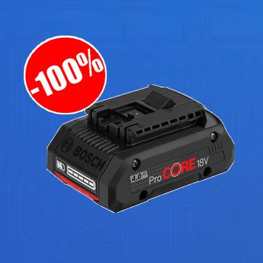 Bosch runkokoneita -10%, kahden ostajalle ProCORE-akku ilmaiseksi!