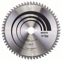 Bosch Pyörösahanterä 250x2,2/3,2x30mm Z60 Optiline Wood 2608640644