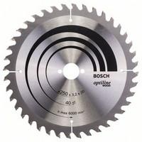 Bosch Pyörösahanterä 250x2,2/3,2x30mm Z40 Optiline Wood 2608640728