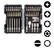 Bosch Extra Hard - ruuvinväänninkärki- ja kuusiohylsysarjat, 43 osaa