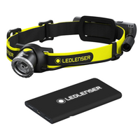 Ledlenser iH8R Ladattava otsavalaisin + Power Bank