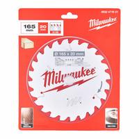 Milwaukee Pyörösahanterä 165x1.6x20 Z24 Puulle