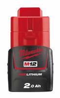 Milwaukee M12 B2 REDLITHIUM™ Akku 2,0 Ah