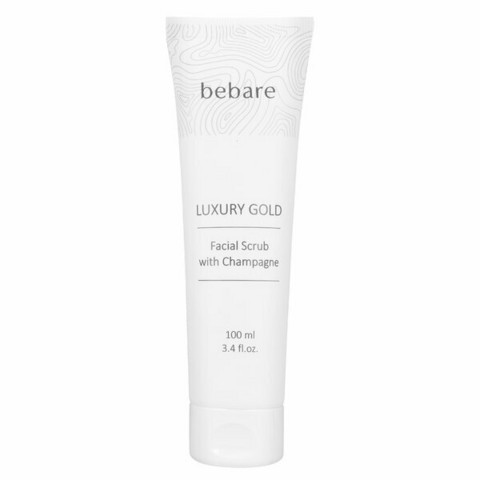 Bebaré Luxury Gold Facial Scrub with Champagne 100 ml