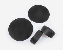 Lasinaluset ja lautasliinarenkaat 2kpl Nahka Musta