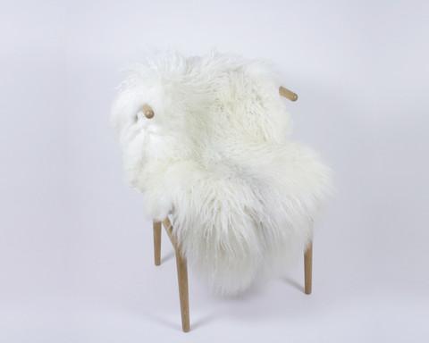Lampaantalja luonnonvalkoinen pitkävillainen