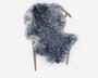 Lampaantalja harmaansävyinen kihara villa