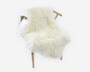 Lampaantalja luonnonvalkoinen muhkea kiharavillainen