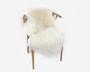Lampaantalja hunajaisen luonnonvalkoinen kiharavillainen