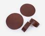 Lasinaluset ja lautasliinarenkaat 2kpl Nahka Suklaanruskea