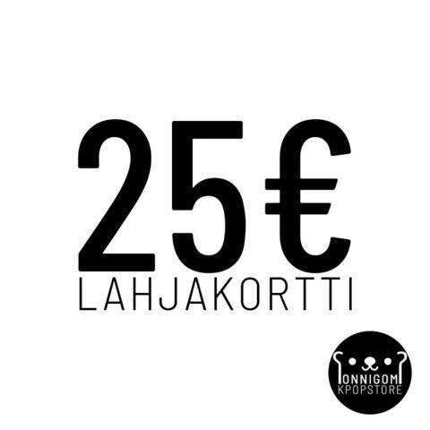 ONNIGOM LAHJAKORTTI 25€