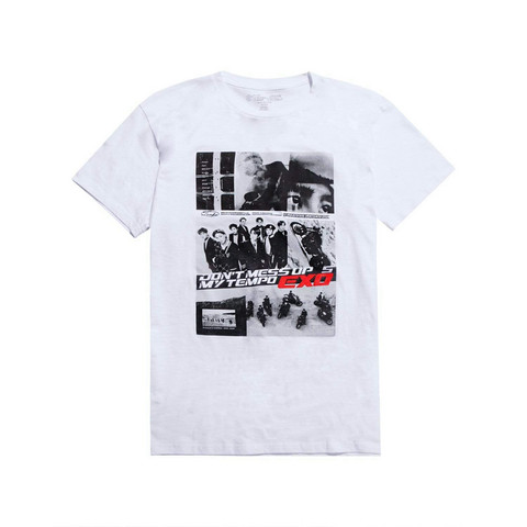 EXO - DON'T MESS UP MY TEMPO GRAPHIC T-SHIRT – WHITE