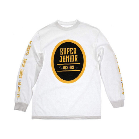 SUPER JUNIOR - REPLAY LONG SLEEVE SHIRT - WHITE