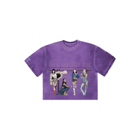 BLACKPINK - H.Y.L.T - CROPPED T-SHIRT PURPLE