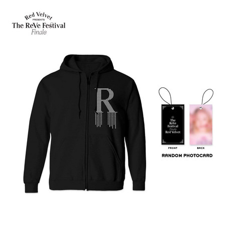 RED VELVET - FINALE ZIP UP HOODIE BLACK W/ PHOTO TAG