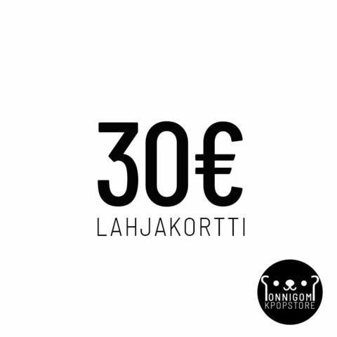 ONNIGOM LAHJAKORTTI 30€