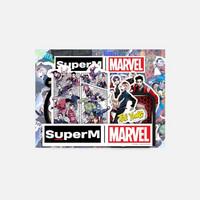 SUPERM X MARVEL - LUGGAGE STICKER SET