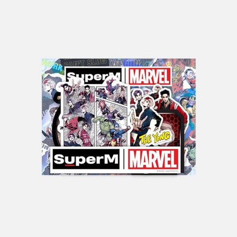 SUPERM X MARVEL - LUGGAGE STICKER SET