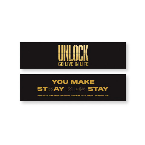 STRAY KIDS - UNLOCK: GO LIVE IN LIFE - SLOGAN